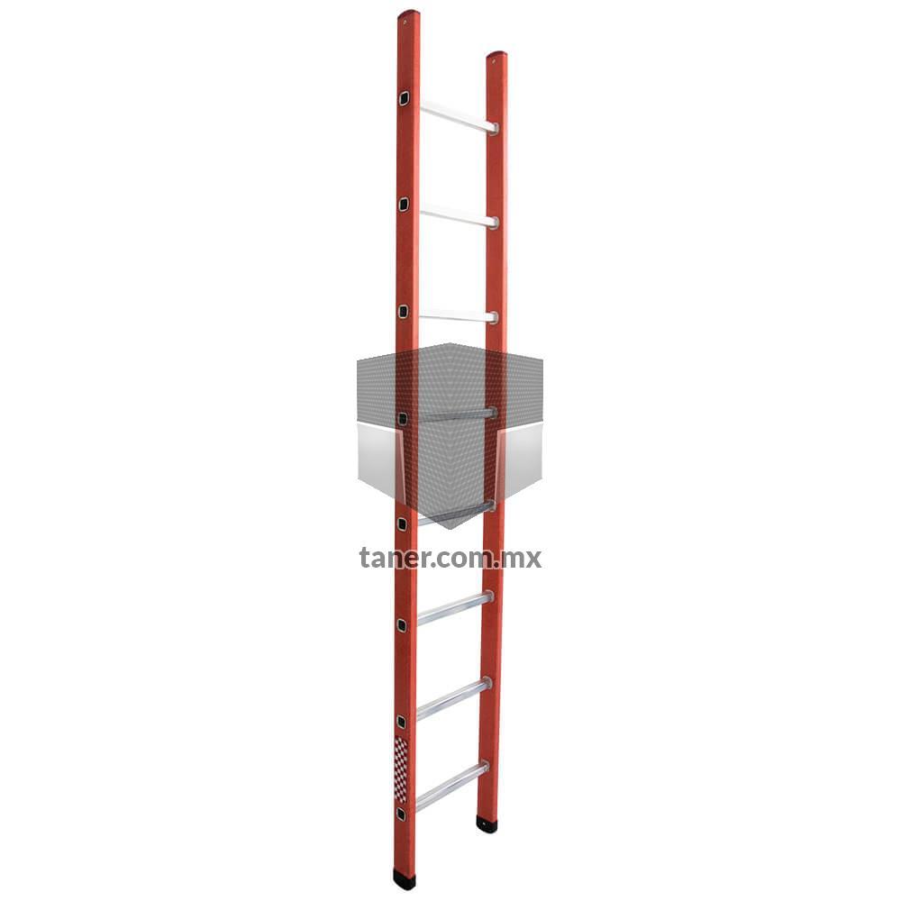 Escalera Recta Fibra de Vidrio 8 Escalones Básica