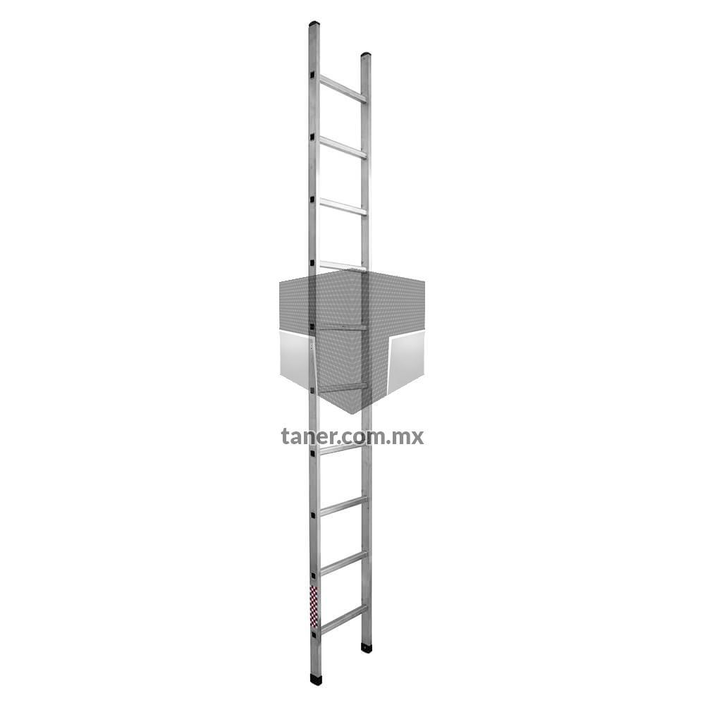 Escalera Recta de Aluminio 10 Escalones Básica