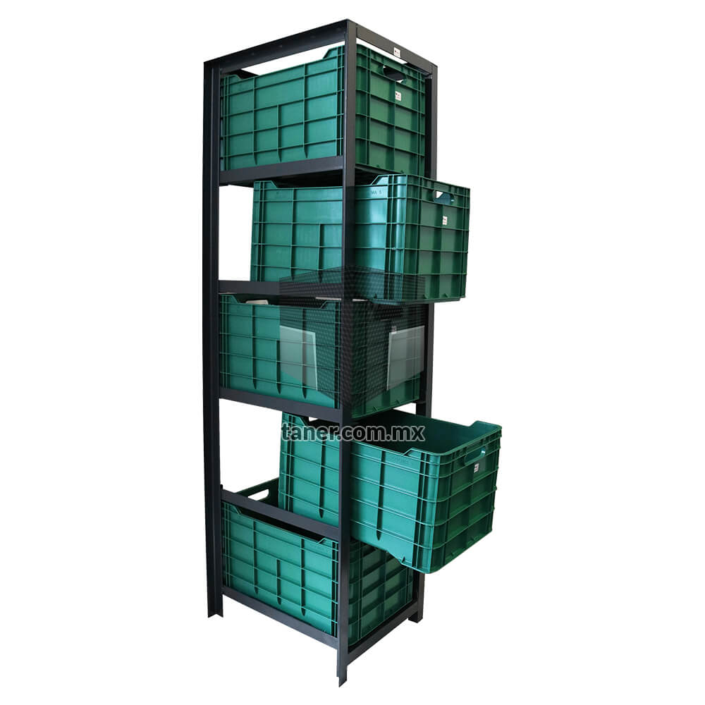 Venta-de-Anaqueles-TANER-Organizadora-de-Espacios-CDMX-Exhibidores-Estructura-Cajonera-5-Contenedores-02