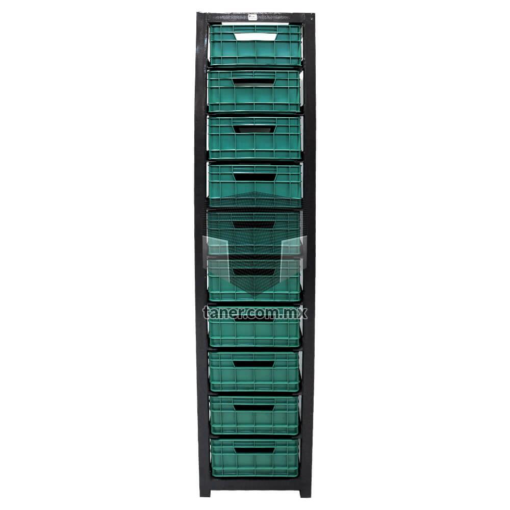 Venta-de-Anaqueles-TANER-Organizadora-de-Espacios-CDMX-Exhibidores-Estructura-Cajonera-con-10-Contenedores-Ricolino-01