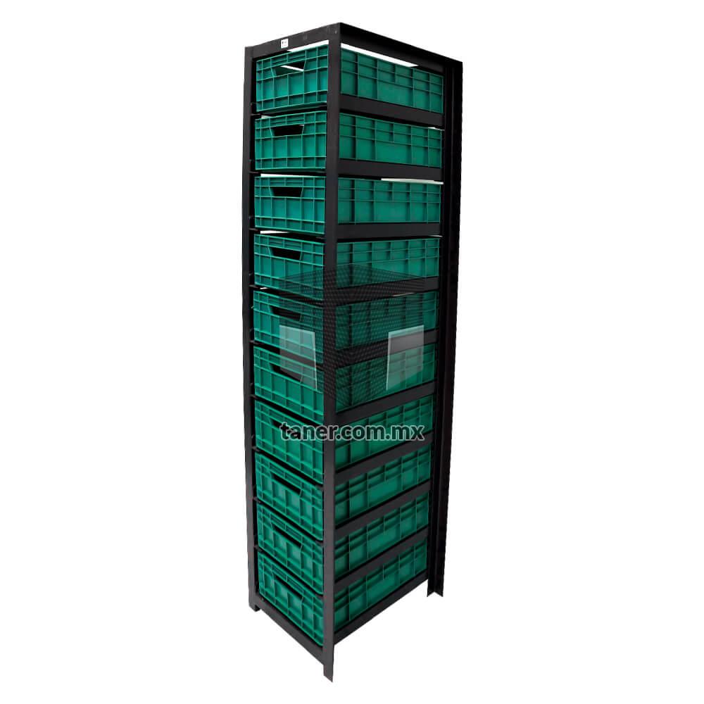 Venta-de-Anaqueles-TANER-Organizadora-de-Espacios-CDMX-Exhibidores-Estructura-Cajonera-con-10-Contenedores-Ricolino-02