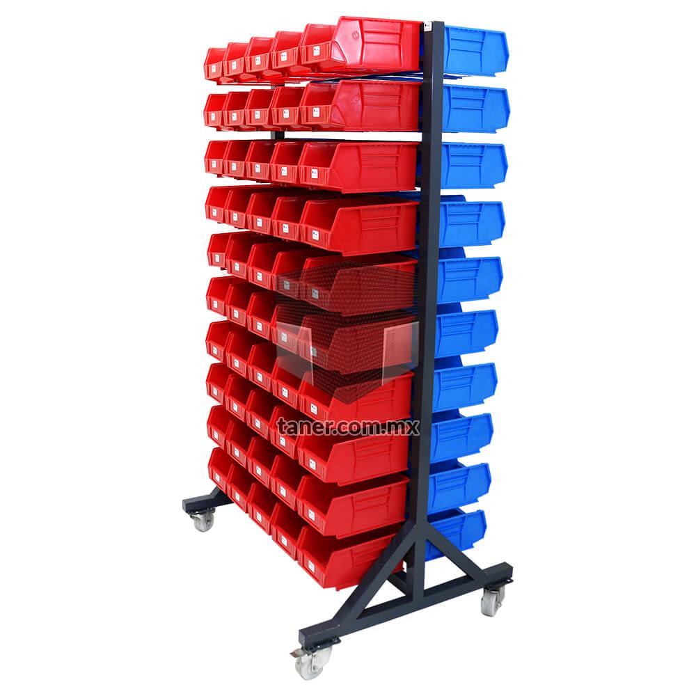Venta-de-Anaqueles-TANER-Organizadora-de-Espacios-CDMX-Exhibidores-Exhibidor-Doble-100-Gavetas-Plásticas-N-3-01