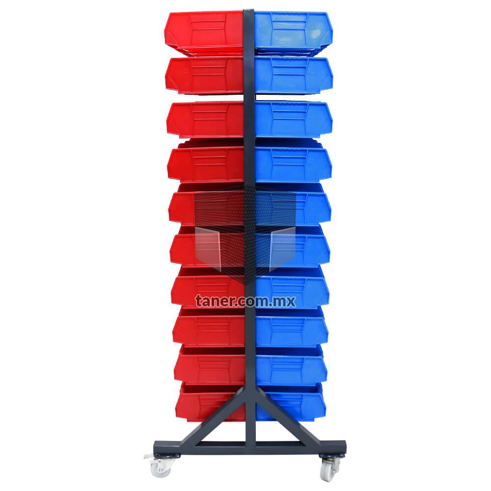 Venta-de-Anaqueles-TANER-Organizadora-de-Espacios-CDMX-Exhibidores-Exhibidor-Doble-100-Gavetas-Plásticas-N-3-02