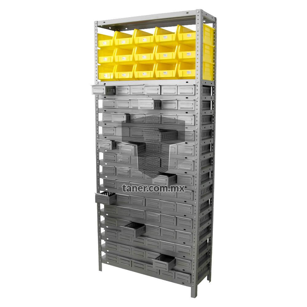 Venta-de-Anaqueles-TANER-Organizadora-de-Espacios-CDMX-Gavetetos-Gavetero-Metálico-N-2-01