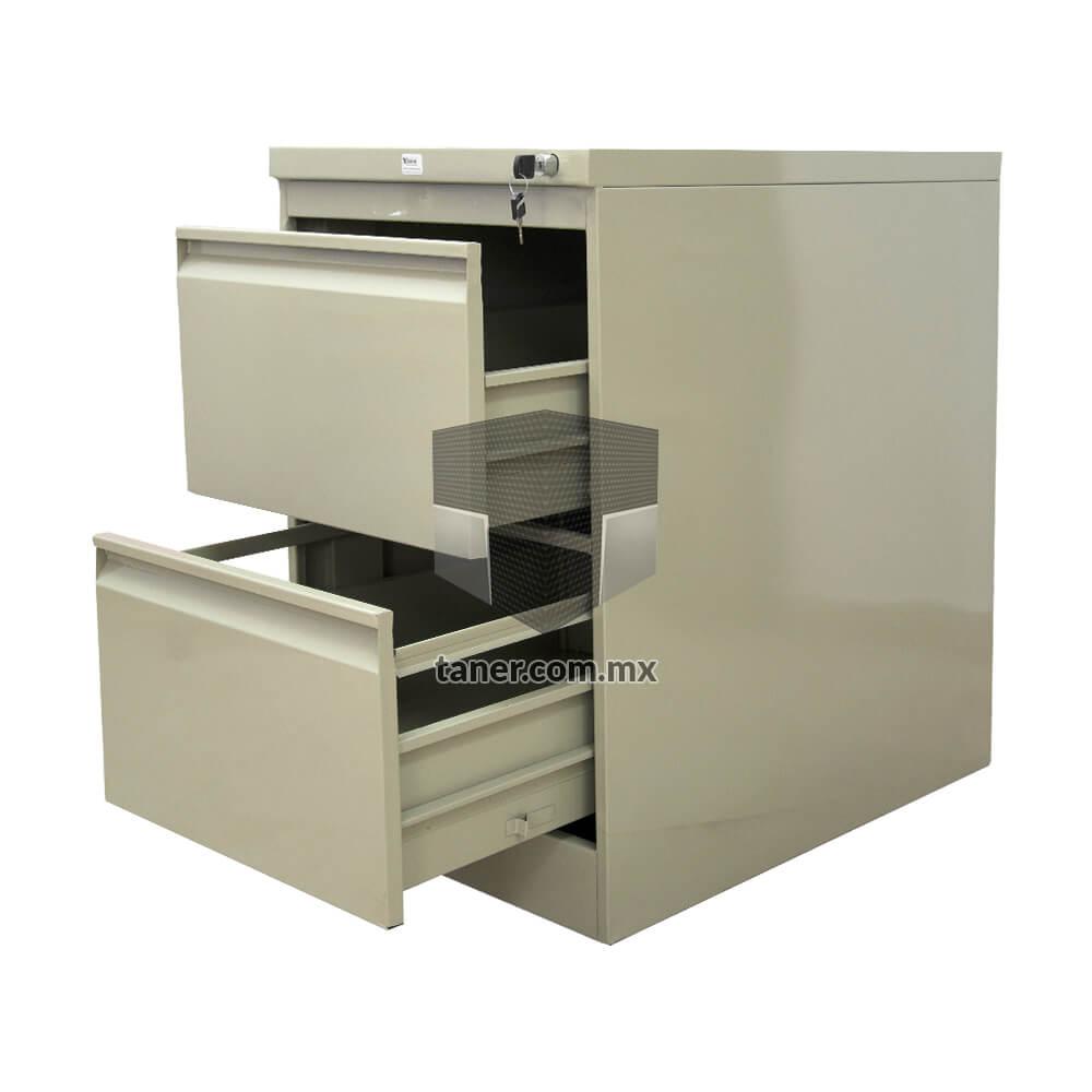 Venta-de-Anaqueles-TANER-Organizadora-de-Espacios-CDMX-Linea-Oficina-Archivero-Vertical-2-Gavetas-01