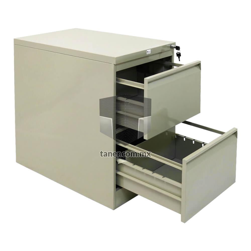 Venta-de-Anaqueles-TANER-Organizadora-de-Espacios-CDMX-Linea-Oficina-Archivero-Vertical-2-Gavetas-02