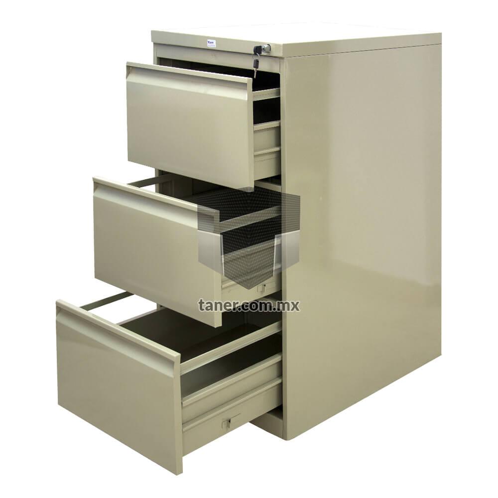 Venta-de-Anaqueles-TANER-Organizadora-de-Espacios-CDMX-Linea-Oficina-Archivero-Vertical-3-Gavetas-01