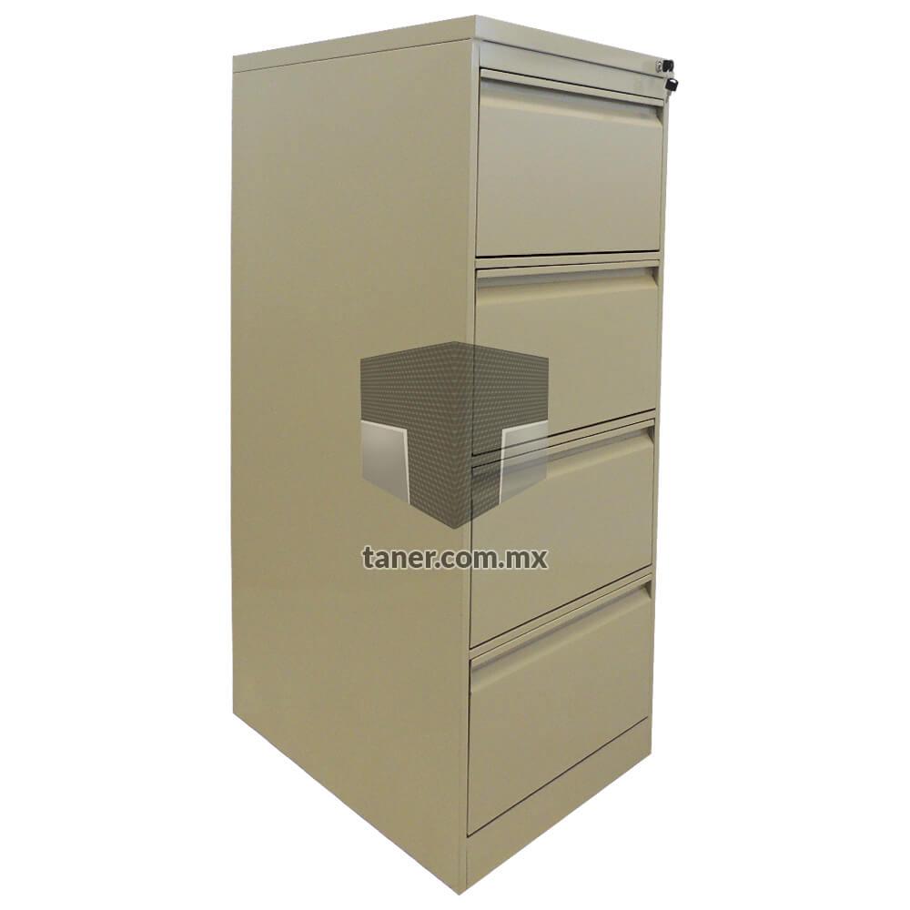 Venta-de-Anaqueles-TANER-Organizadora-de-Espacios-CDMX-Linea-Oficina-Archivero-Vertical-4-Gavetas-01