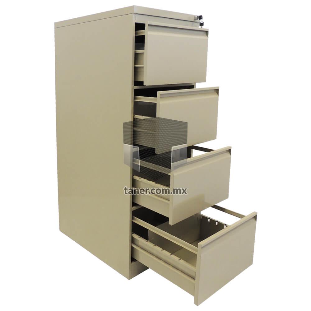 Venta-de-Anaqueles-TANER-Organizadora-de-Espacios-CDMX-Linea-Oficina-Archivero-Vertical-4-Gavetas-02
