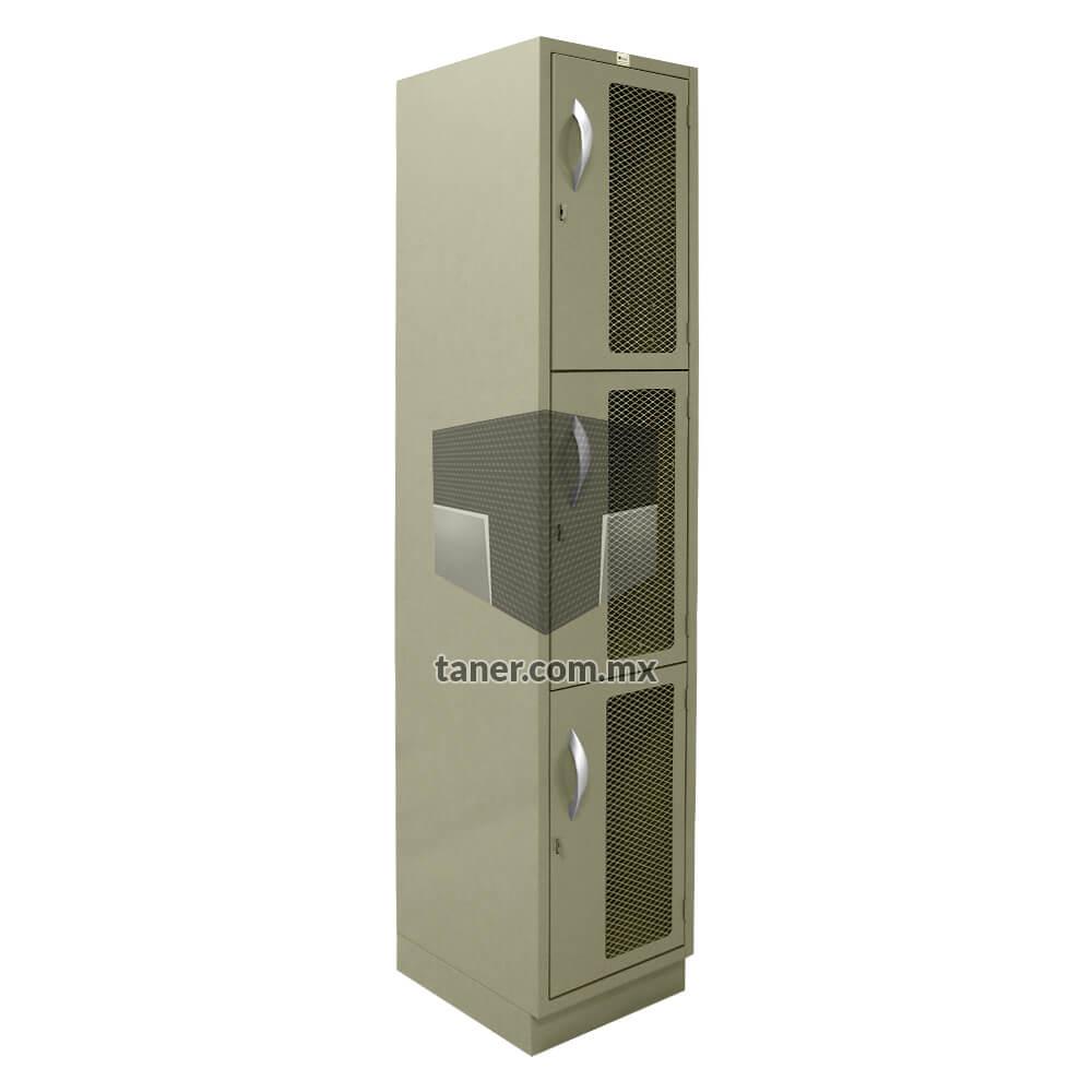 Venta-de-Anaqueles-TANER-Organizadora-de-Espacios-CDMX-Lockers-Locker-3-Puertas-Con-Malla-01