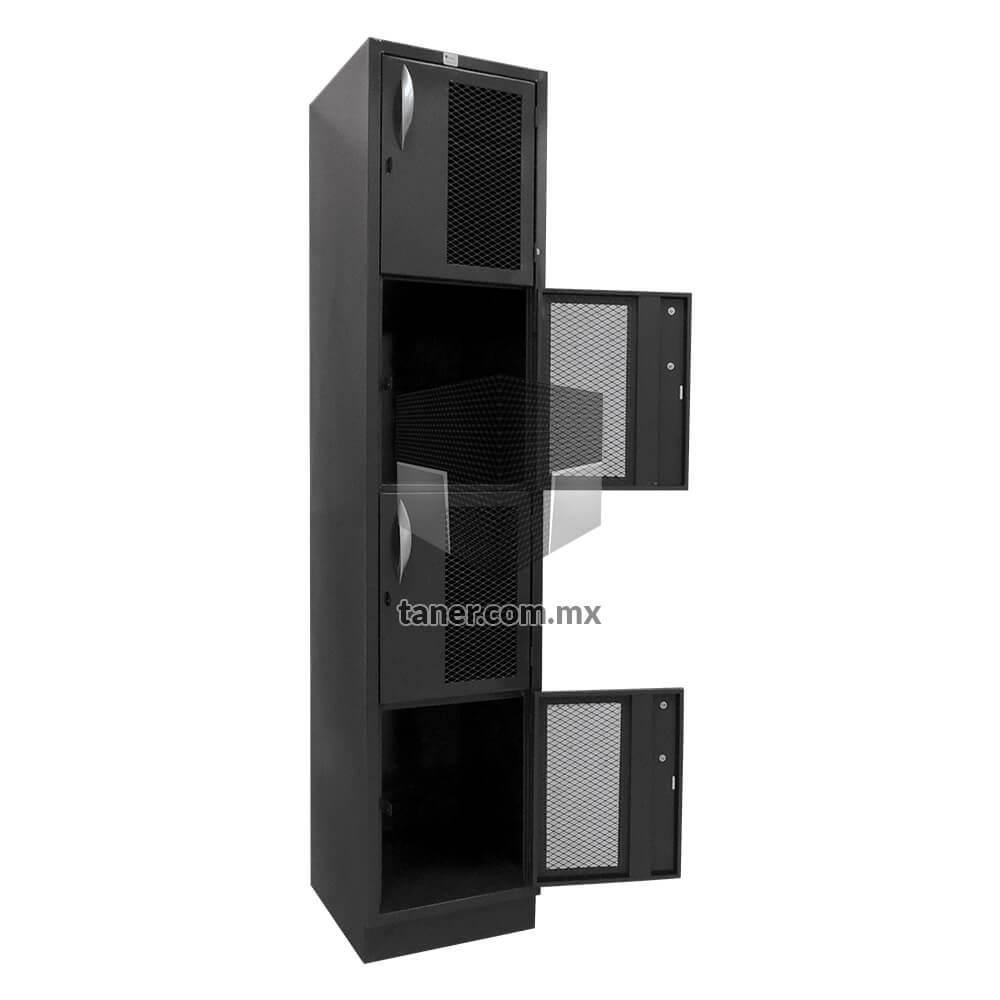 Venta-de-Anaqueles-TANER-Organizadora-de-Espacios-CDMX-Lockers-Locker-4-Puertas-Con-Malla-01