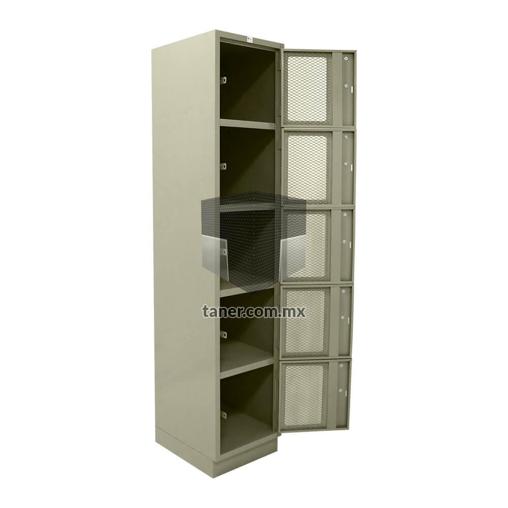 Venta-de-Anaqueles-TANER-Organizadora-de-Espacios-CDMX-Lockers-Locker-5-Puertas-Con-Malla-01