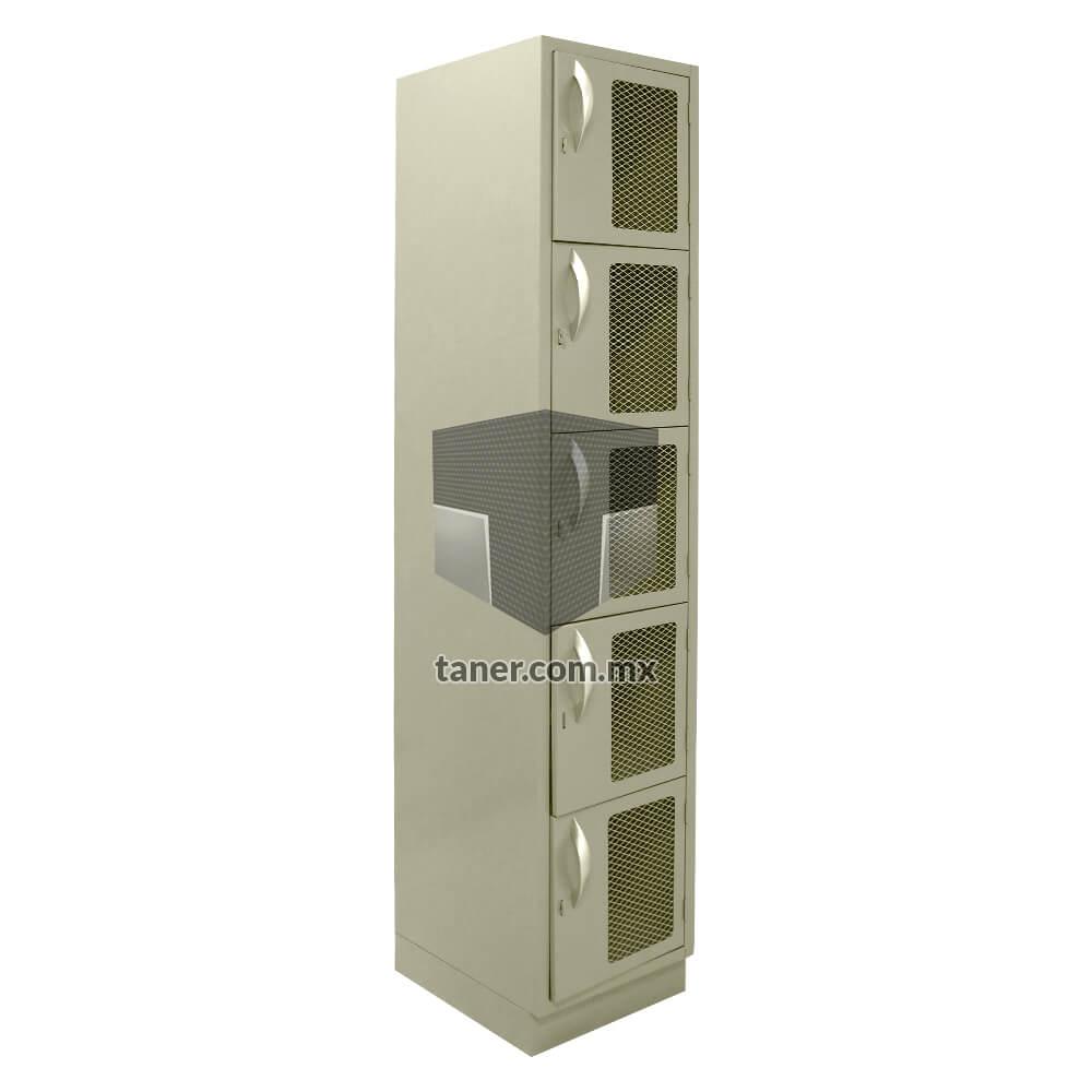 Venta-de-Anaqueles-TANER-Organizadora-de-Espacios-CDMX-Lockers-Locker-5-Puertas-Con-Malla-02